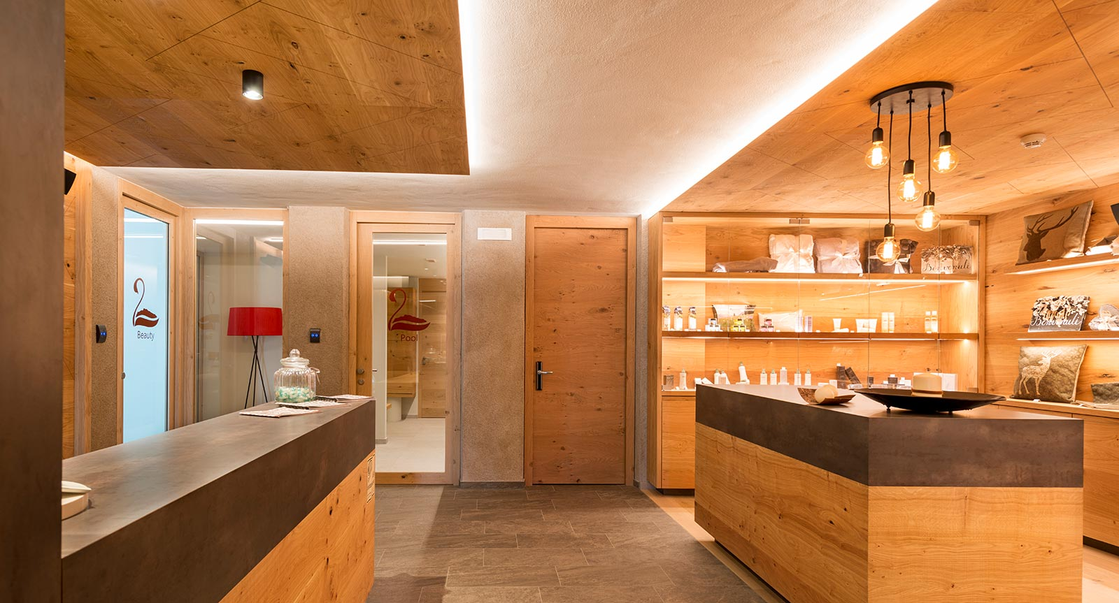 the Beuty Shop in the spa area of the Hotel Lech da Sompunt
